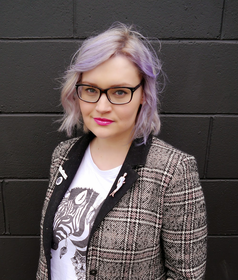 Glasgow, brat and suzie, merchant city, the Clyde, plaid, Scottish blogger, style blog, blether, violet hair, purple hair, how to,