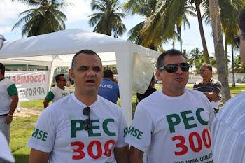FOTOS DA MANIFESTAÇÃO EM PROL DA PEC 300/446, DURANTE A VISITA DA PRESIDENTE DILMA A SERGIPE.