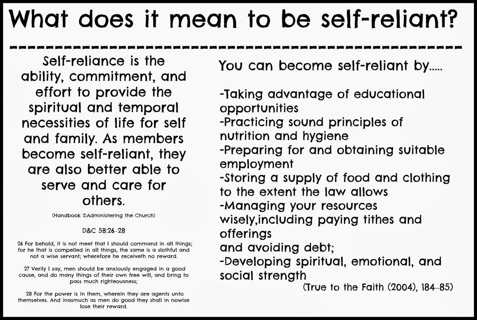 Self Reliance Lds
