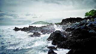 Salpicaduras de la roca