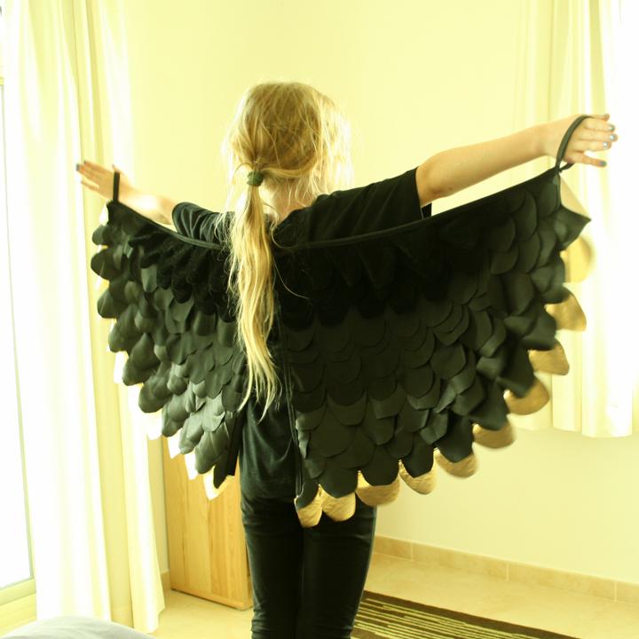 Как сделать костюм для птицы 7