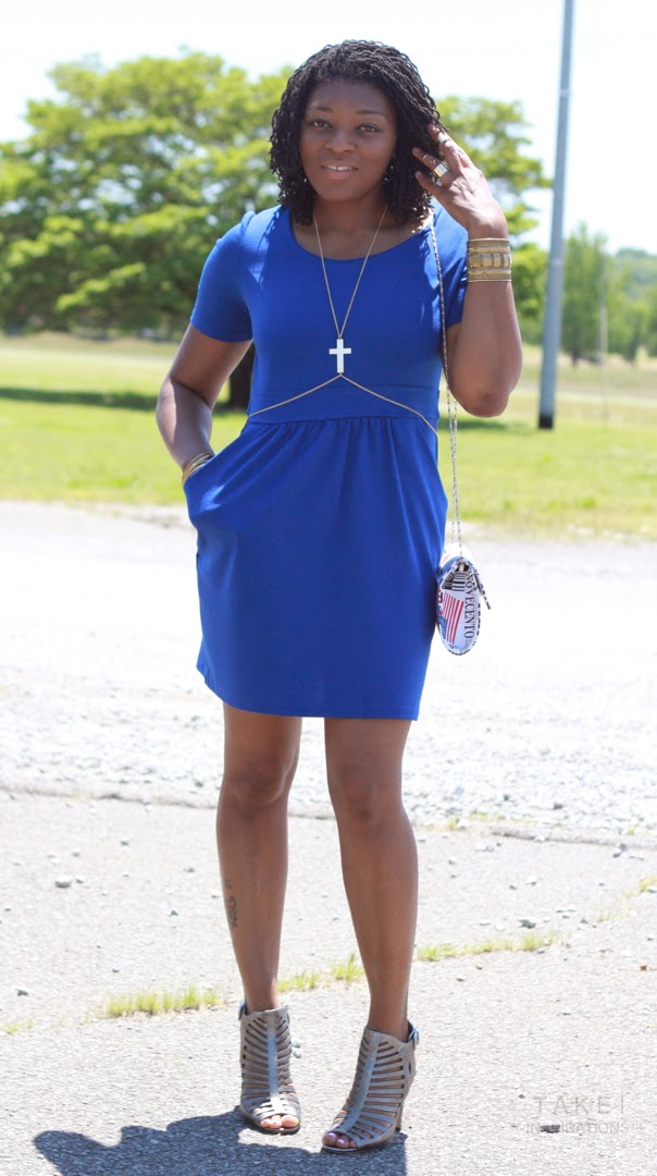 styling a cobalt blue spring dress