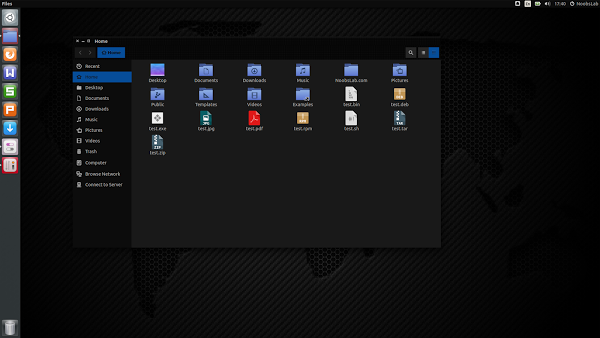 template ubuntu hitam