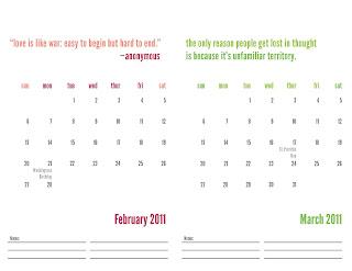 free 2011 calendar print img 1