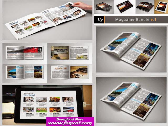 تصميمات مجلات التصميم رقم (35  ) magazine design