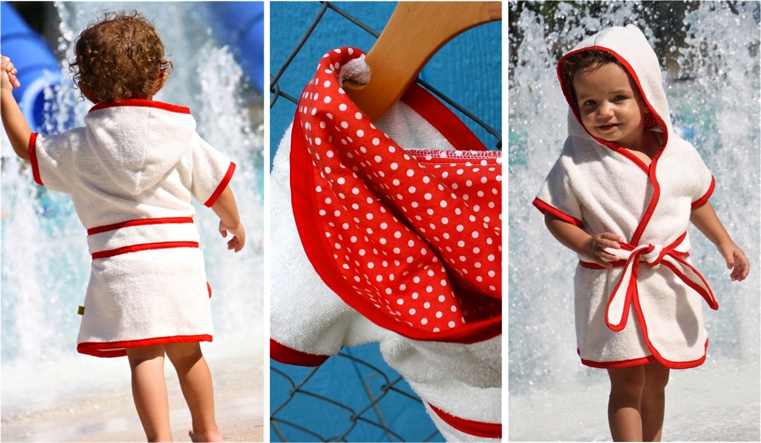 Beach Robes make a trip to the beach and seaside so much easier for kids & parents! Aside from their swimmers, a beach robe is all a child needs to wear to the beach. Aside from their swimmers, a beach robe is all a child needs to wear to the beach.
