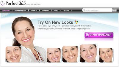 Home page del programma Makeover365 per il ritocco dei ritratti fotografici