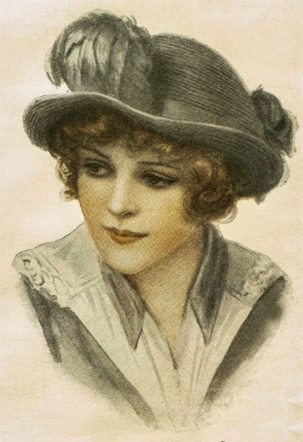 1900's Women's Hat Fashions Royalty free Stock antique graphic images from http://knickoftimeinteriors.blogspot.com/