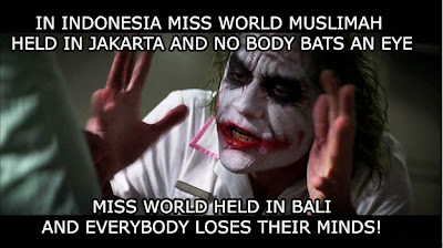 Meme Joker Miss World Indonesia