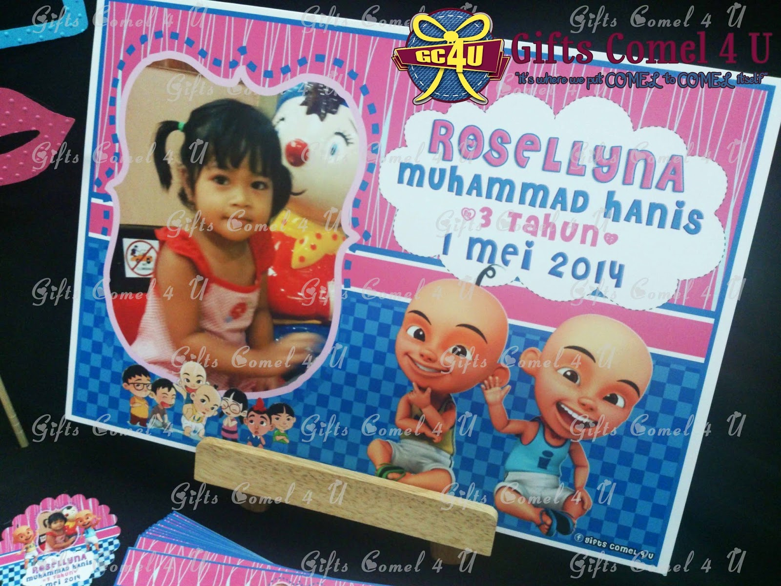 Gifts comel 4 u ordered by rosafidah upin ipin bluepink upin ipin bluepink theme birthday set stopboris Image collections