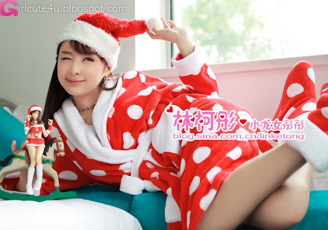 1 Linke Tong glowing Christmas Maid Princess first series-very cute asian girl-girlcute4u.blogspot.com
