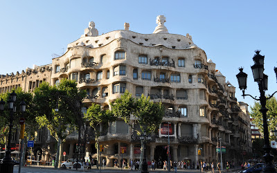 Casa Mila, Barcelona, by Antoni Gaudi