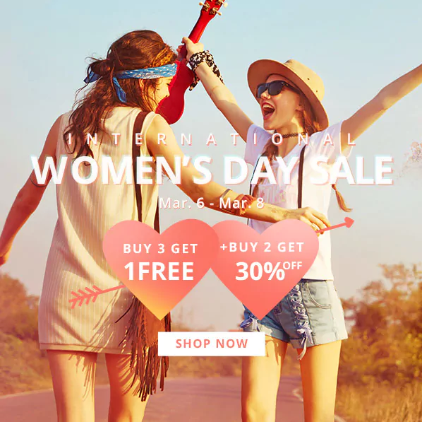 Zaful women's day sale