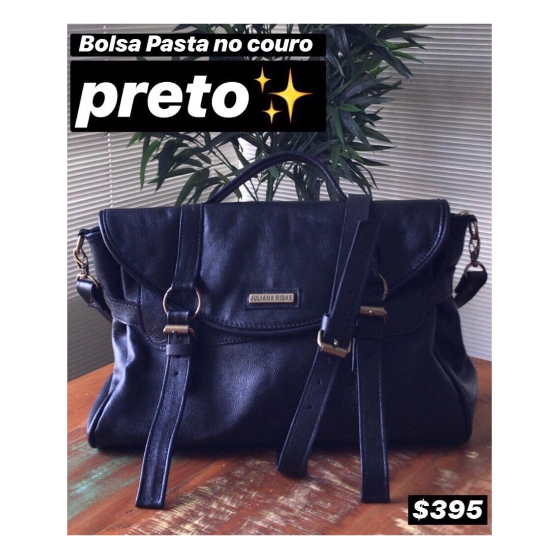 BOLSA PASTA NO COURO PRETO (CÓDIGO: BS20)