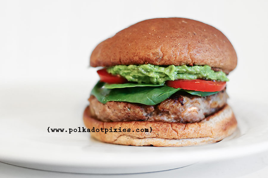 Polka Dot Pixies: {Herbed Turkey Burger Recipe}