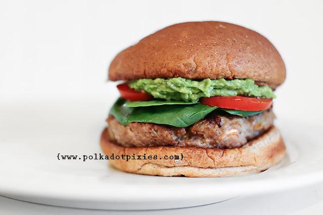 Polka Dot Pixies: {Herbed Turkey Burger Recipe}