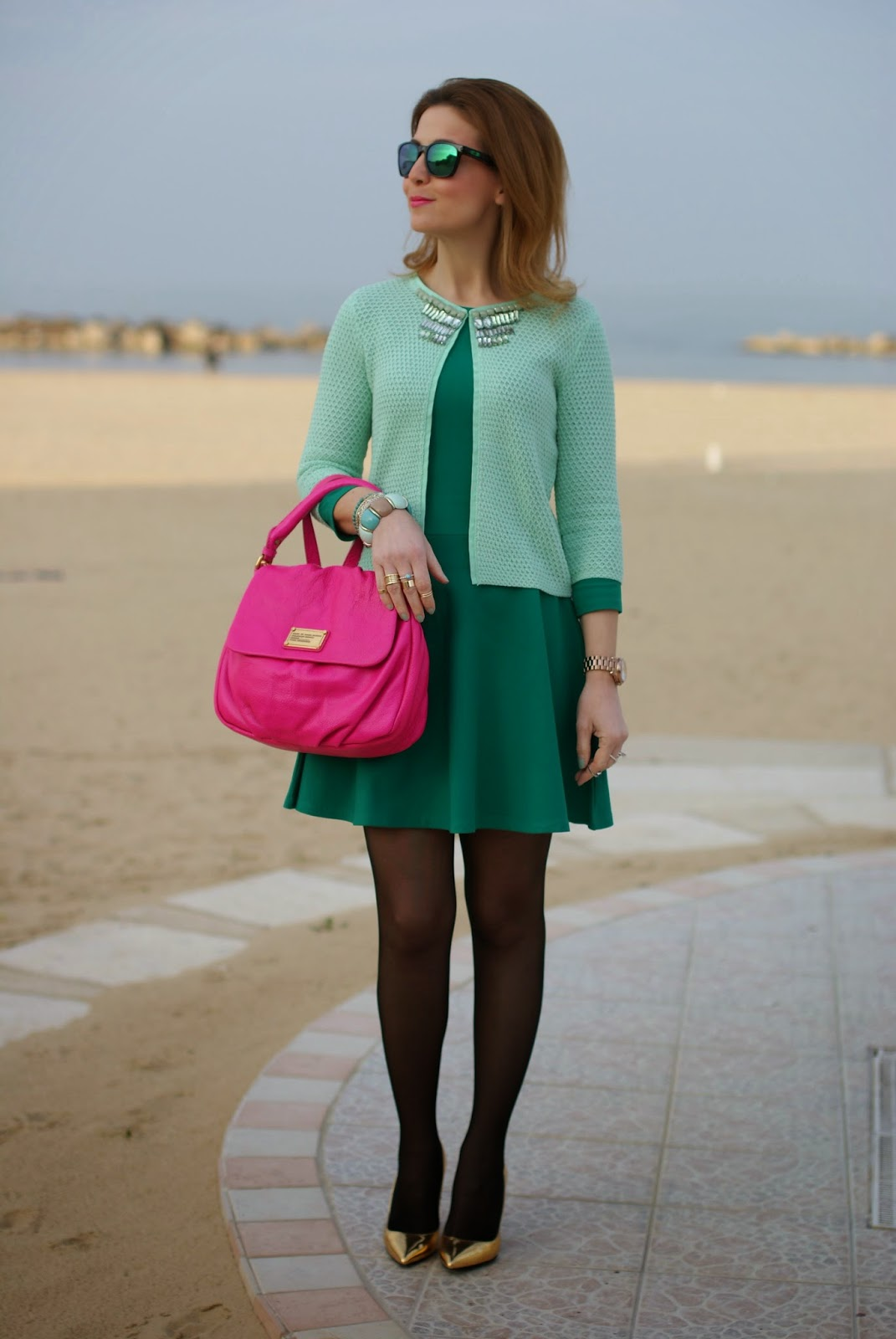 Jeweled cardigan, embellished top, Giorgia and Johns, Fashion and Cookies, fashion blogger