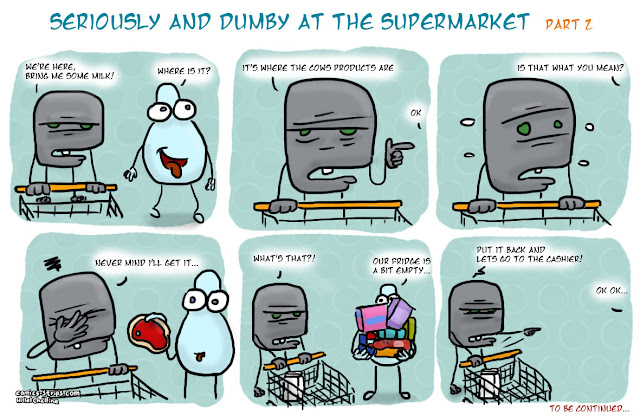seriously and dumby at the supermarket part 2