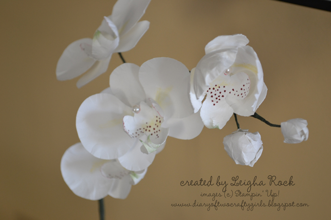 diary of two crafty girls  paper orchid tutorial