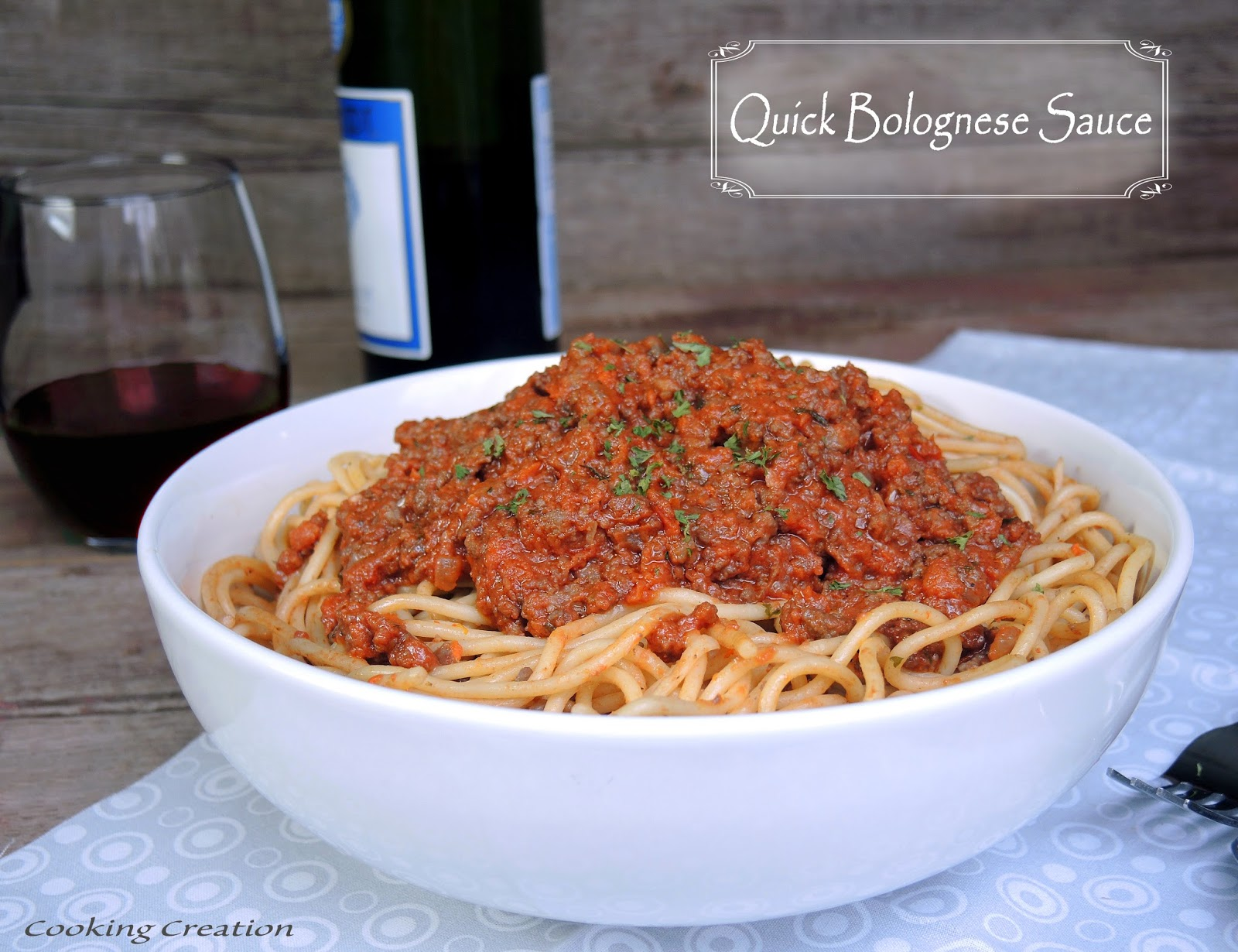 Cooking Creation: Quick Bolognese Sauce