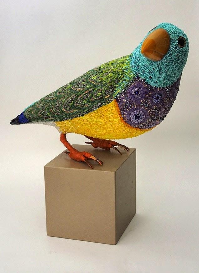 mosaic bird sculptures dusciana bravura-1
