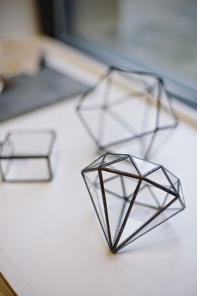 invernadero geometrico cristal diamante