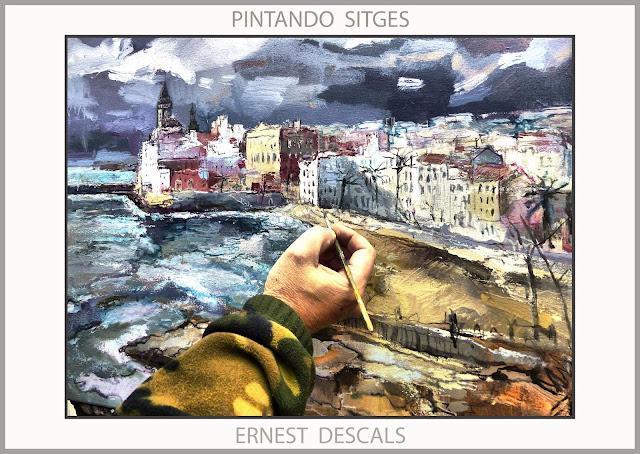 SITGES-PINTURA-PAISATGES-PINTANDO-PAISAJES-CATALUNYA-FOTOS-ARTISTA-PINTOR-ERNEST DESCALS-