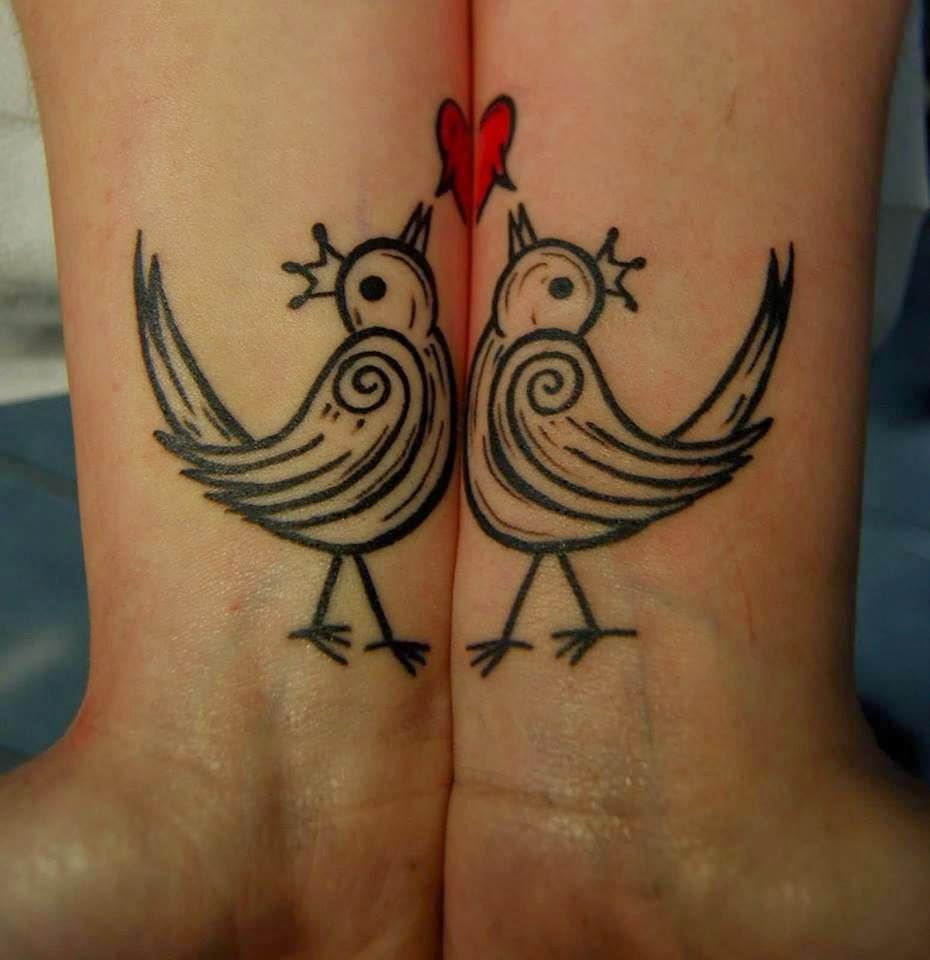 Tatuaje para enamorados de Pajaritos