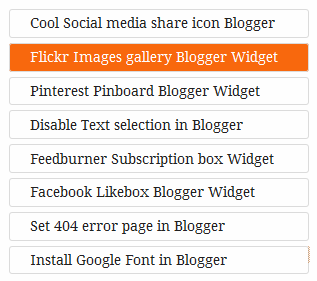 Flat popular post widget for Blogger