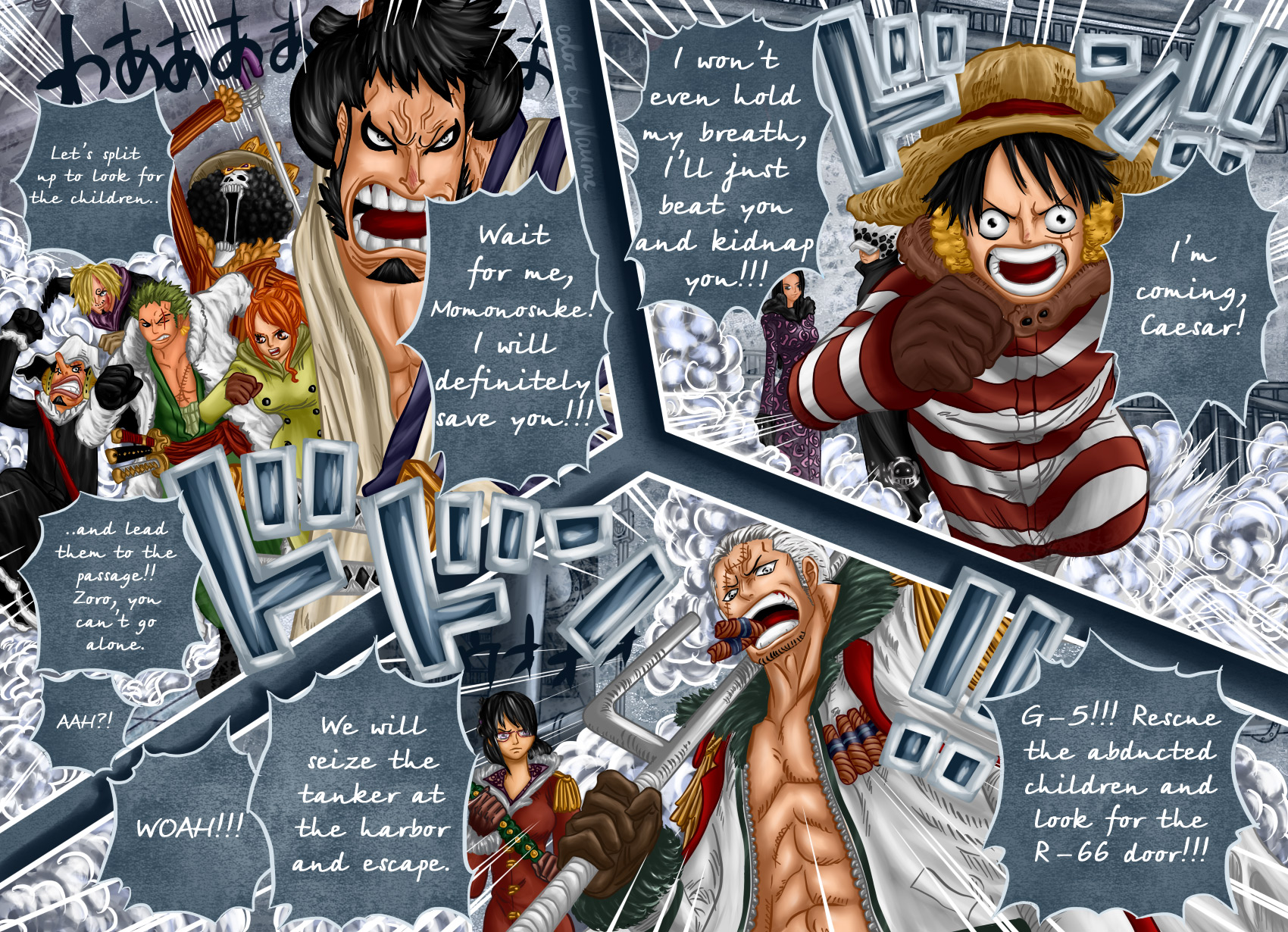 One Piece Chapter 680: Lãnh đạo căn cứ Hải quân G5: Kichiku Vergo 019