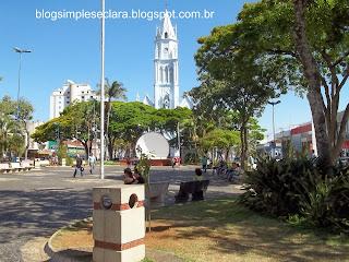 Praça central de Franca/SP-Blog Simples e Clara