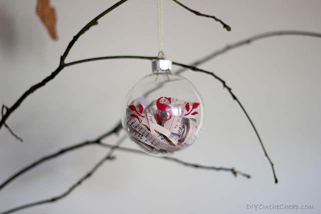 Monogrammed Glass Ornament