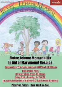 Charity 5k in Doneraile Park - Sat 7th Sept 2019