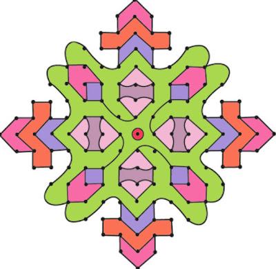 Latest Rangoli Design with Dots