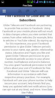 Globe Free Facebook Notification