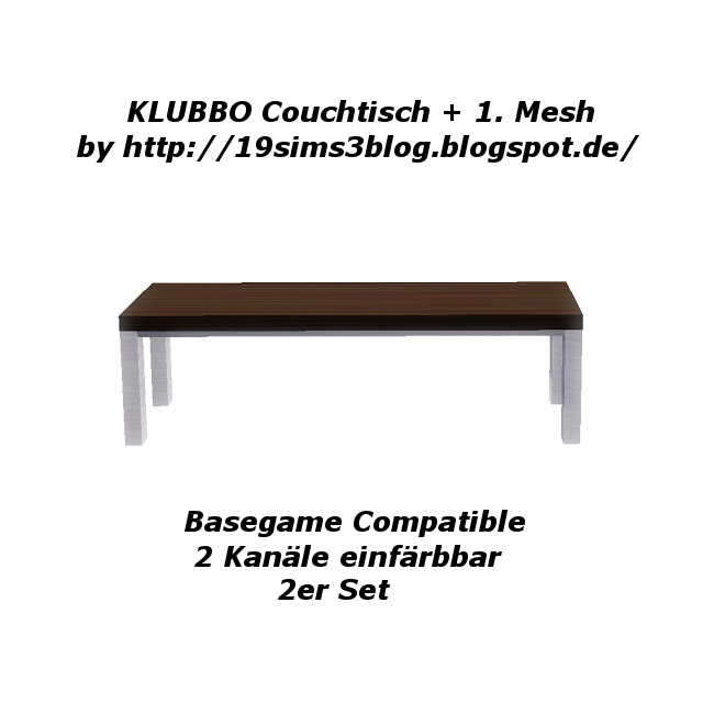 My Sims 3 Blog Klubbo Coffee Table By Michaela P