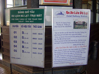 Sign of the train station of Da Lat
