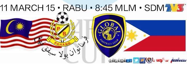 Live Streaming Pahang Vs Global FC AFC Cup 11 Mac 2015