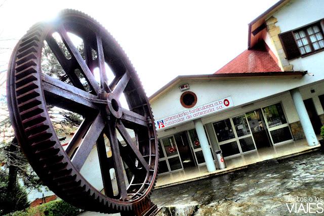 estacion de funicular en el monte artxanda