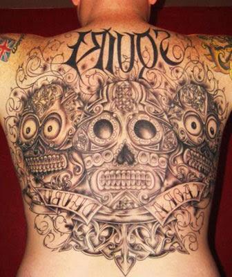Ideias para tatuar caveira mexicana nas costas