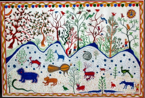 Handicrafts Of India Pithora Paintings Tribal Art Of India