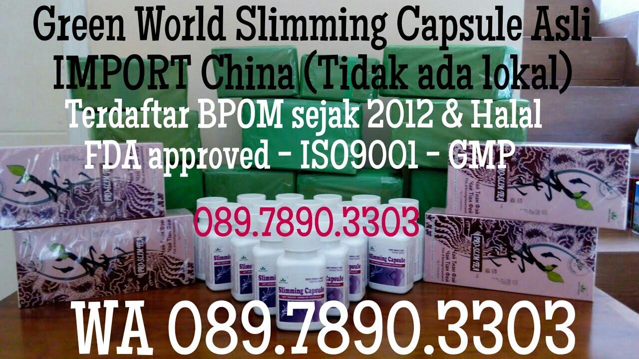 WA 08978903303 Jual Pelangsing WSC Green World Slimming Capsule Asli