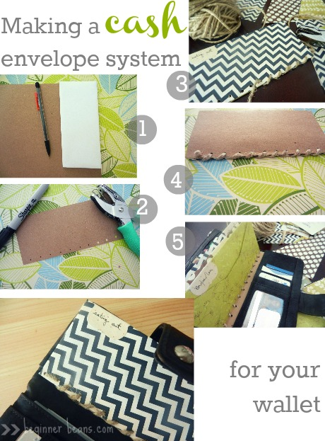how to make a cash envelope system fit for a wallet