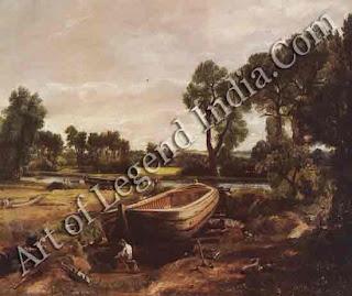 """Boatbuilding"" 1815 20"" x 241/4"" Victoria and Albert Museum"