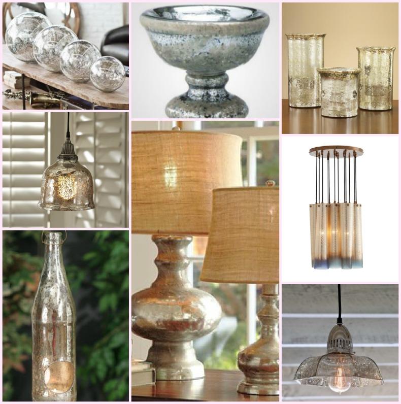 coastal accessories, mercury glass
