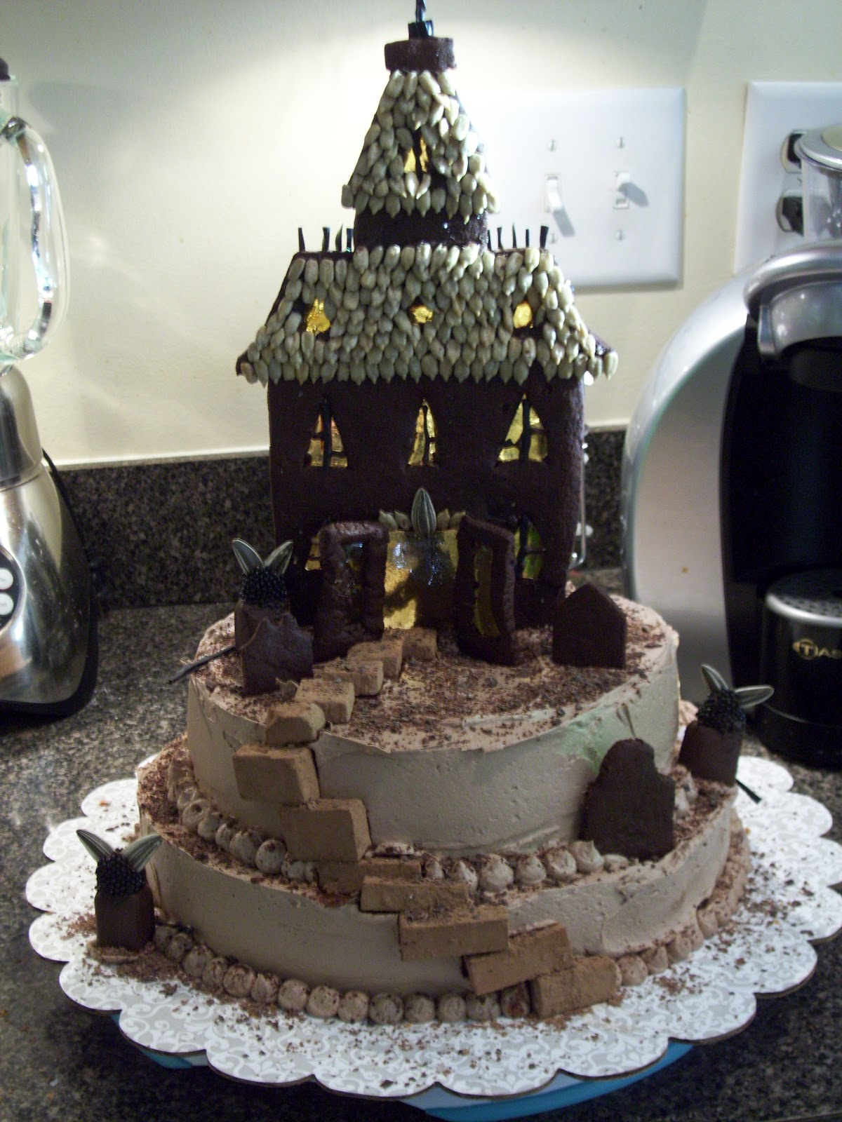 Scary Castle Birthday Cake