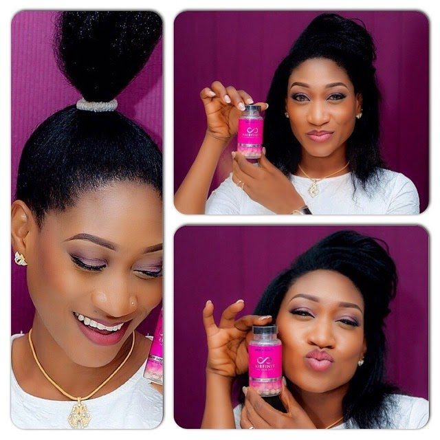 nollywood actress oge okoye endorses hairfinity vitamins