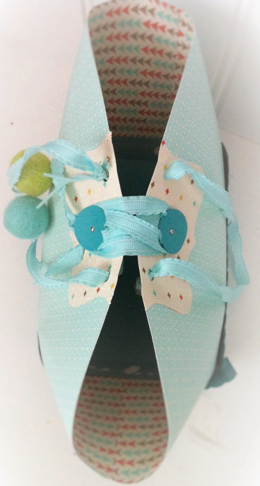 How to make a handbag size paper gift bag by Lisa Barton Vintage Celebrations