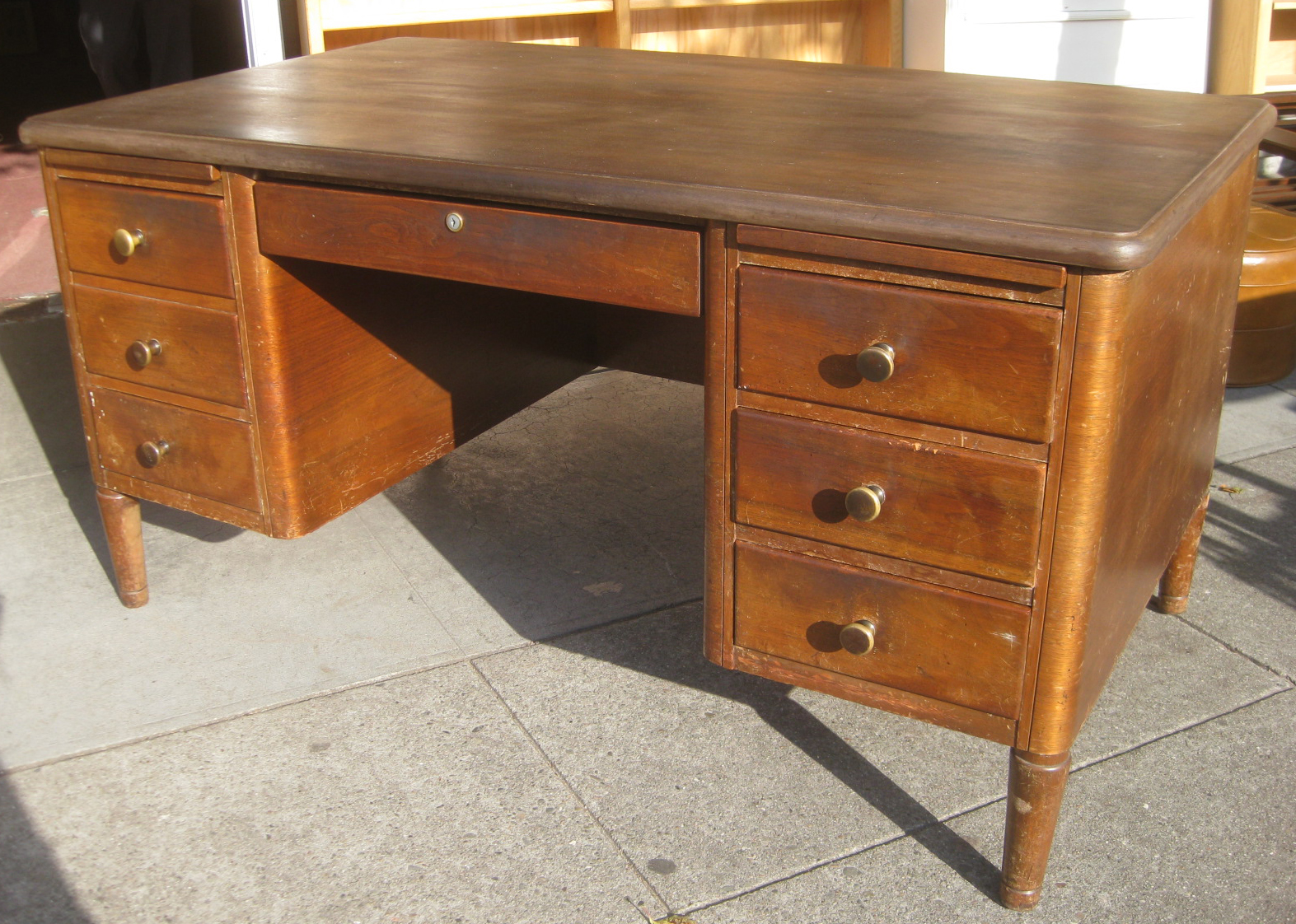SOLD - Vintage Teacher's Desk - $90 - UHURU FURNITURE & COLLECTIBLES: SOLD - Vintage Teacher's Desk - $90