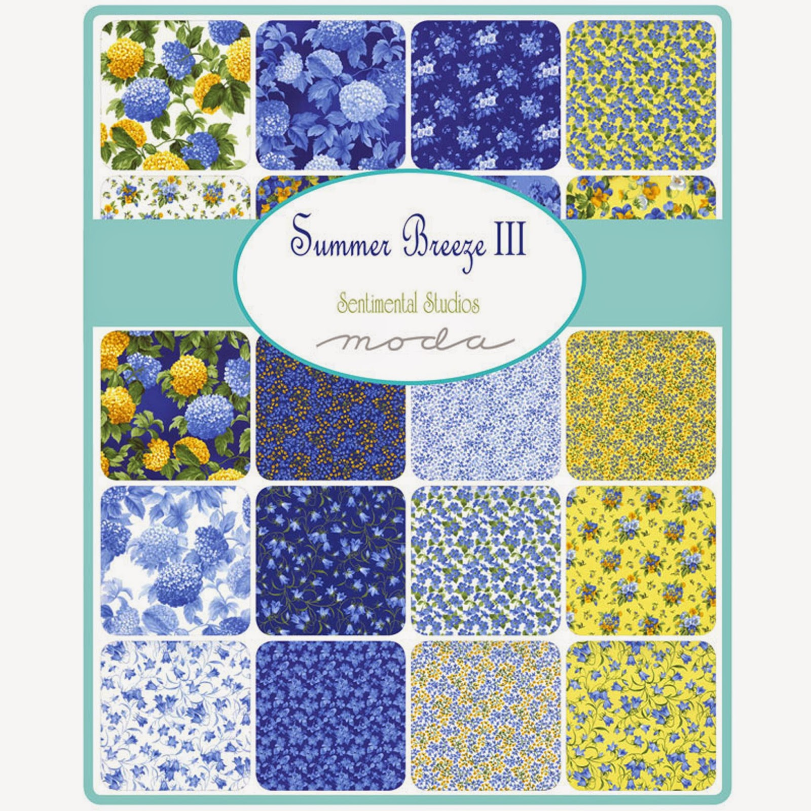 Moda SUMMER BREEZE III Fabric by Sentimental Studios for Moda Fabrics